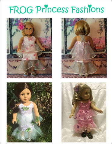 PDF doll clothes sewing pattern mermaid gown dress designed to fit american girl