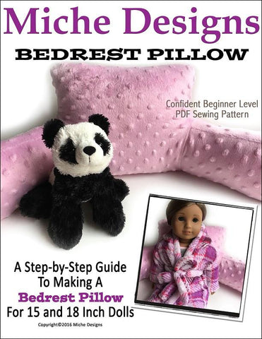 "Miche Designs 18 Inch Modern Bedrest Pillow 18"" Doll Accessories Pixie Faire"