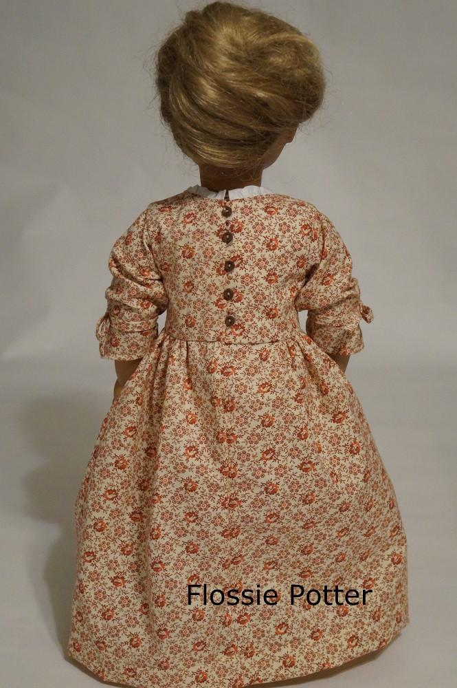 c958e081738 Flossie Potter Betsy Ross Shop Dress Doll Clothes Pattern 18 inch ...
