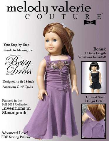 "Melody Valerie Couture 18 Inch Modern Betsy Dress 18"" Doll Clothes Pixie Faire"