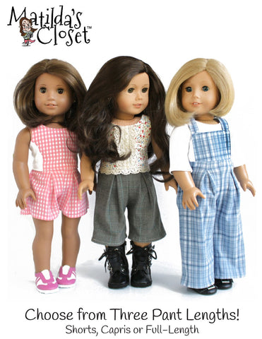 "Bibbed Culottes 18"" Doll Clothes"