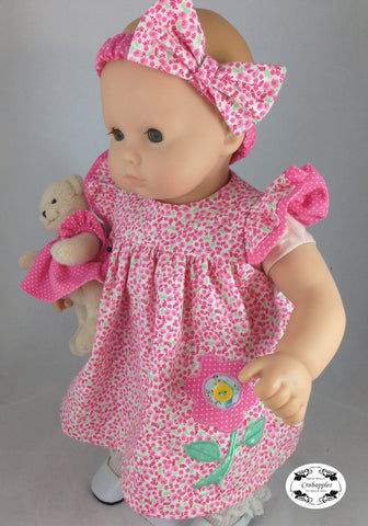 "Bitty Baby Flutter Sleeve Dress 15"" Doll Clothes"