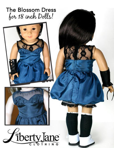 "Blossom Dress 18"" Doll Clothes Pattern"