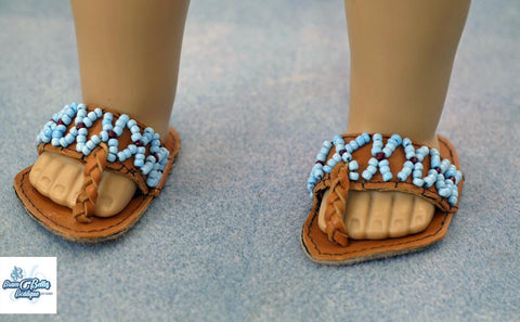 "Cleopatra's Sandals 18"" Doll Shoe Pattern"