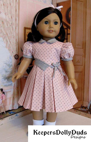 "Bodice Details Dress 18"" Doll Clothes Pattern"