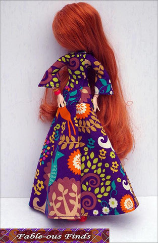 Bohemian Beauty Maxi Dress and Floppy Hat Pattern for Monster High Dolls