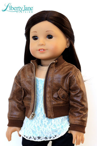 "Bomber Jacket 18"" Doll Clothes Pattern"