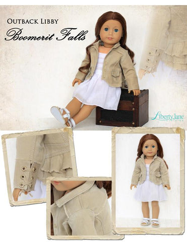 "Boomerit Falls Jacket 18"" Doll Clothes Pattern"