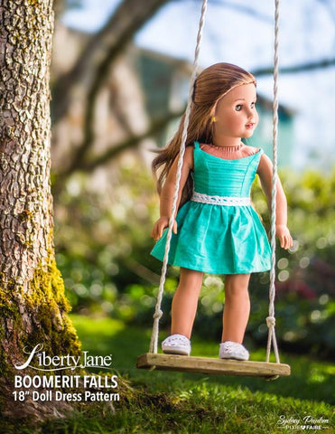 18 inch doll clothes pattern Spring Dress Liberty Jane fits American Girl