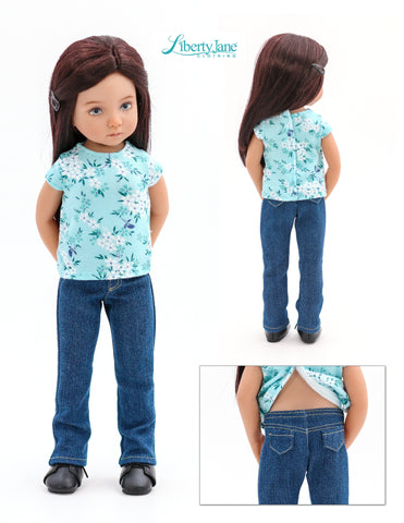 Liberty Jane Little Darling Jeans Bundle Doll Clothes Pattern For Little Darling Dolls Pixie Faire