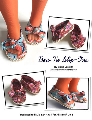 Bow Tie Slip-Ons for AGAT Dolls