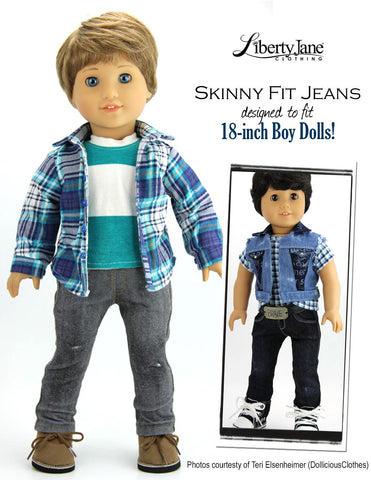 "Boy Doll Jeans Bundle 18"" Doll Clothes Pattern"