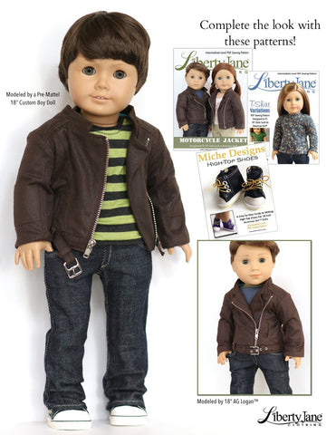 18 inch Boy Doll Jeans Liberty Jane Pixie Faire