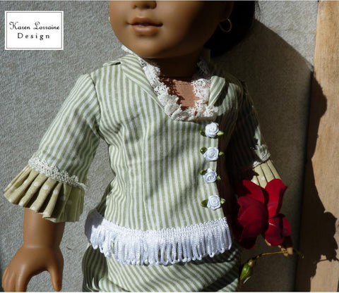 "Brighton Bodice 18"" Doll Clothes Pattern"