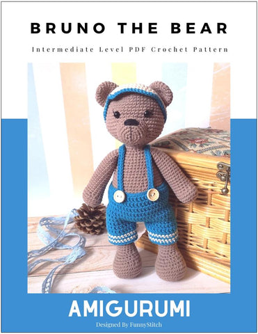 Bruno the Bear Amigurumi Crochet Pattern