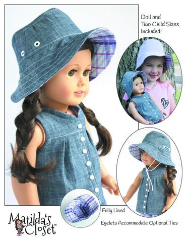 Summer Camp Collection: Bucket Hat for Kids and Dolls