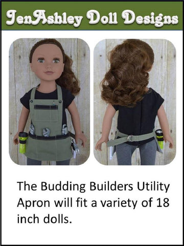 "Budding Builder Utility Apron 18"" Doll Clothes"