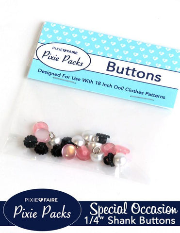 "Pixie Packs 1/4"" Shank Buttons Special Occasion Collection"