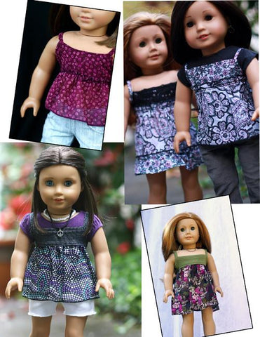 "CA Cami Top 18"" Doll Clothes Pattern"