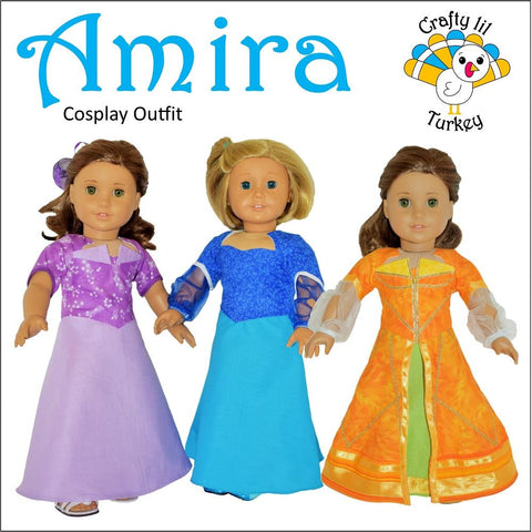 "Amira Cosplay Outfit 18"" Doll Clothes Pattern"