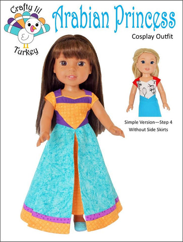 "Arabian Princess Cosplay Outfit 14.5"" Doll Clothes Pattern"