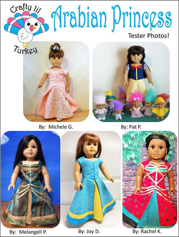 "Arabian Princess Cosplay Outfit 18"" Doll Clothes Pattern"