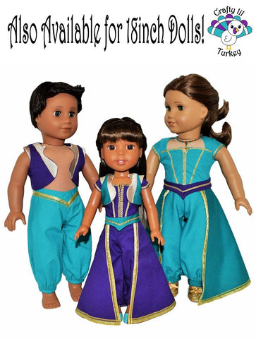 "Royal Sultan Cosplay Outfit 14.5"" Doll Clothes Pattern"