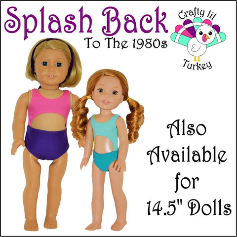 "Splash Back To The 1980s 18"" Doll Clothes Pattern"