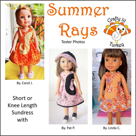 "Summer Rays 14.5"" Doll Clothes Pattern"