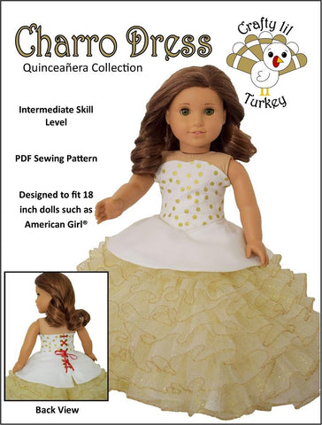 "Charro Dress 18"" Doll Clothes Pattern"