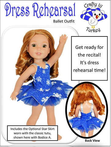 "Dress Rehearsal 14.5"" Doll Clothes Pattern"