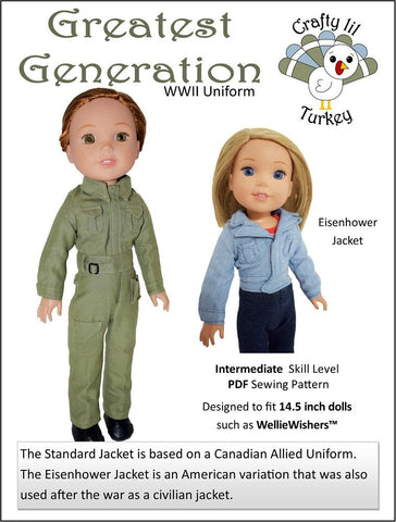 "Greatest Generation 14.5"" Doll Clothes Pattern"