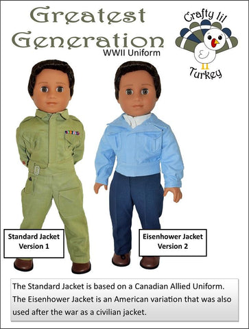 "Greatest Generation 18"" Doll Clothes Pattern"