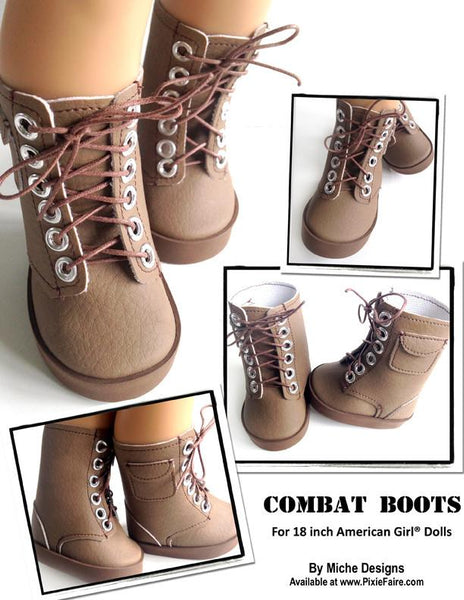 Combat Boots 18 Inch Doll Shoes Pdf Pattern Download