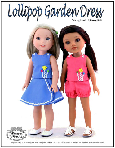 "Lollipop Garden Dress 14-14.5"" Doll Clothes Pattern"
