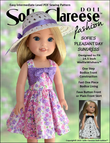 "Sofie's Pleasant Day Sundress 14.5"" Doll Clothes Pattern"