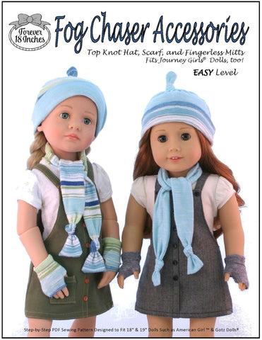 "Forever 18 Inches 18 Inch Modern Fog Chaser Accessories 18-19"" Doll Clothes Pattern Pixie Faire"