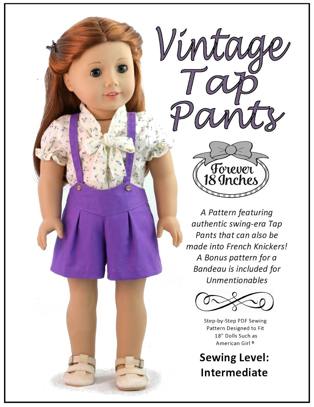 18 inch Doll Clothes Patterns Shorts for American Girl Doll | Pixie ...
