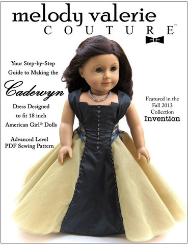 Melody Valerie Couture 18 Inch Modern Cadewyn Dress 18 Inch Doll Clothes Pattern Pixie Faire