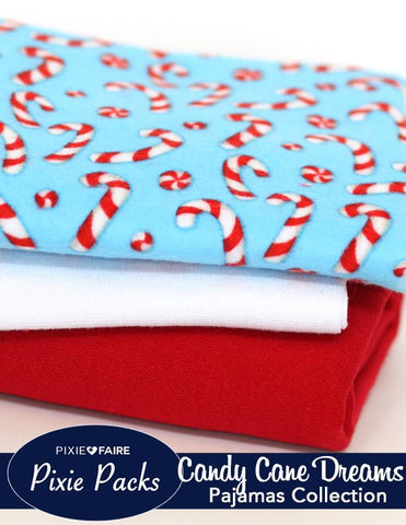 Pixie Packs Candy Cane Dreams Pajamas Collection