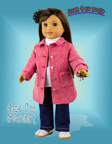 "Cape Cod Overshirt 18"" Doll Clothes Pattern"