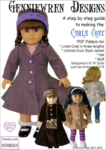 "Genniewren 18 Inch Modern Carla Coat 18"" Doll Clothes Pixie Faire"