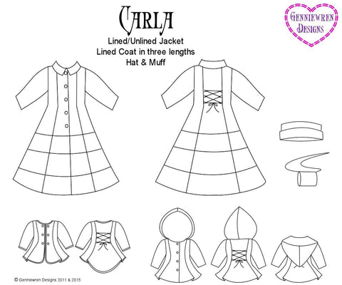 "Carla Coat 18"" Doll Clothes"