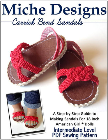 "Carrick bend Sandals 18"" Doll Shoes"