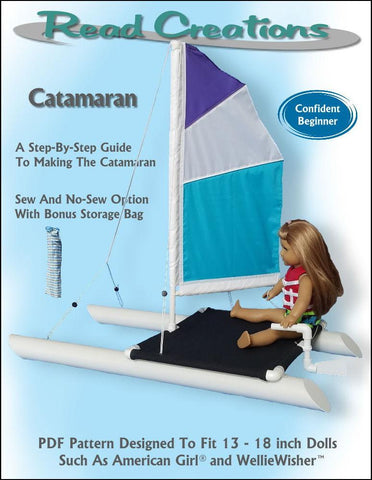 "Catamaran PVC Pattern for 13"" to 18"" Dolls"