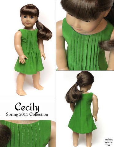 "The Cecily Dress 18"" Doll Clothes"