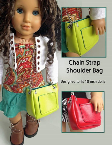 "Chain Strap Shoulder Bag 18"" Doll Accessories"