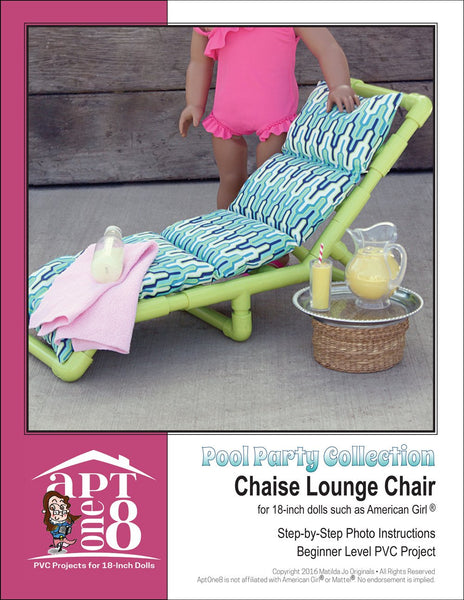 Pool Party Collection Chaise Lounge Chair Pvc Pattern 18