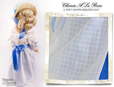 Pixie Packs Chemise a la Reine and Soft Crown Bergere Hat Historical Collection