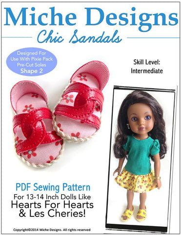 Chic Sandals for Les Cheries and Hearts for Hearts Dolls